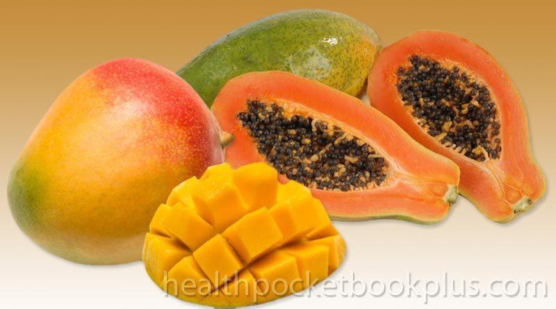 tropical mango papaya